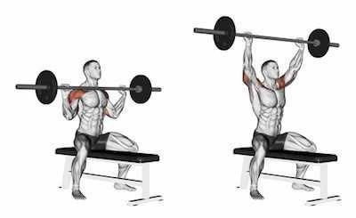 en iyi omuz hareketi barbell overhead press hareketi